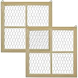 Bright Creations Chicken Wire Window Picture Frame Set (12 x 12 in, 2 Pack)