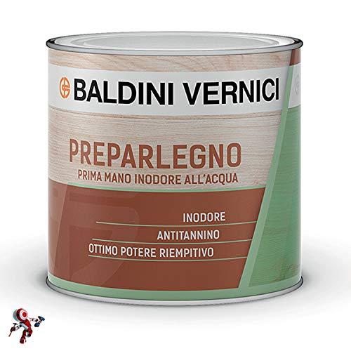 PREPAR LEGNO FONDO PRIMA MANO INODORE acqua Bianco, Lt 0,500