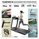 Sportstech FX300 Ultra Slim Laufband – Deutsche Qualitätsmarke – Video Events & Multiplayer APP, Riesen Lauffläche 51x122cm & kein Aufbau, 16 km/h,USB Ladeport, Pulsgurt kompatibel für Cardio Training - 7