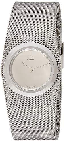 Calvin Klein Damen Analog Quarz Uhr mit Edelstahl Armband K3T23128