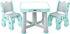 Activity Table Child Table and Chair Kids Play Room Table And Chair Set Activity Kids Table Sets Chairs for Study  Color Blue  Size 63x51 59x27cm