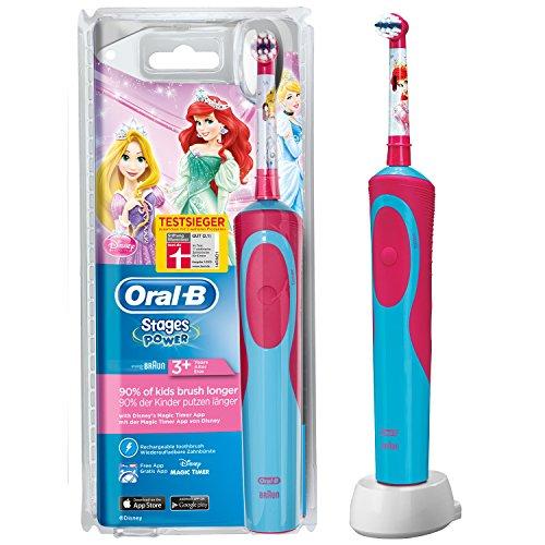 Oral-B Stages Power Akku Prinzessin elektrische Kinderzahnbürste mit Timer