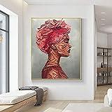 yaonuli Personas abstractas en Lienzo Pintura al óleo decoración Sala de Estar decoración de Pared roja Abstracta Imagen sin Marco Pintura 50x75cm
