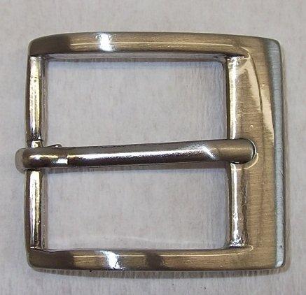 #469# NUOVO 1 Fibbia Cintura Fibbia Fibbia 3,0 cm ARGENTO rostfrei