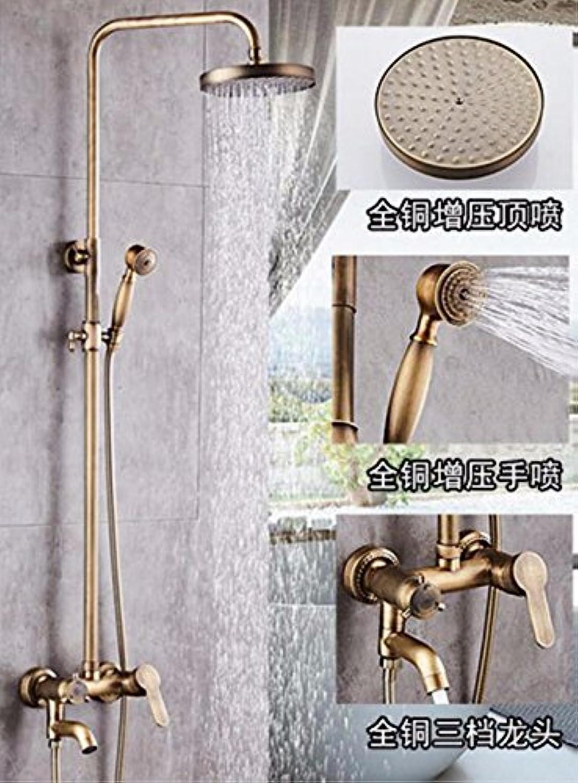 ETERNAL QUALITY Badezimmer Waschbecken Wasserhahn Messing Hahn Waschraum Mischer Mischbatterie Tippen Sie auf die Kupfer Dusche Wasserhahn und Kaltes Wasser Dusche Duschk