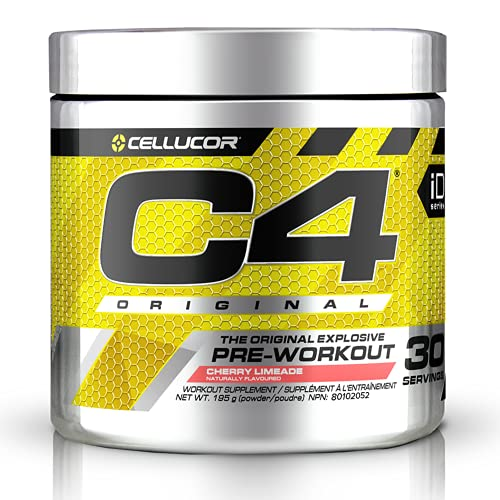 C4 Original Pre Workout Powder, Energy Drink Supplement, Cherry Limeade, 30 Servings