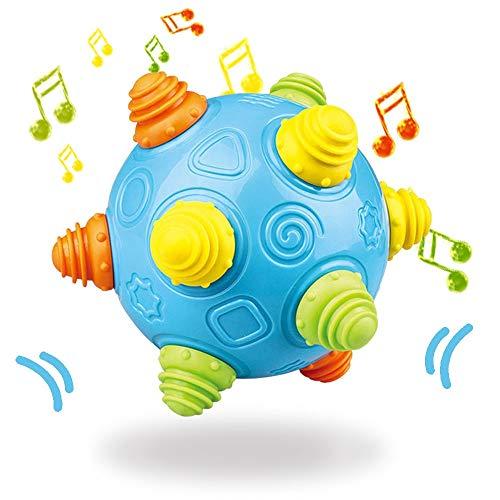 Baby Music Shake Dancing Ball Toy, BPA Free Bouncing Sensory Developmental Ball for Boys and Girls