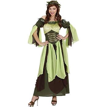 NET TOYS Disfraz Largo de Hada para Mujer | Verde-Marrón en Talla ...