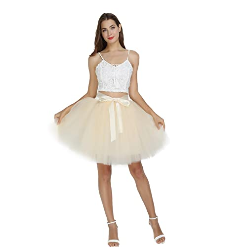 e5914acf0 Women's High Waist Princess Tulle Skirt Adult Dance Petticoat A-line  Wedding Party Tutu