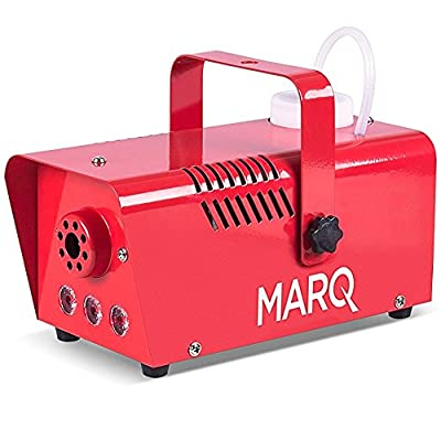 Marq Fog 400 LED, Professional Fog Machine with LED Lighting Effects and Wired Remote for Halloween, Christmas, Weddings, Disco, DJ Party