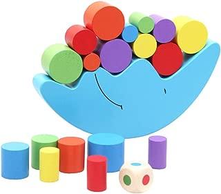 Rajendram Moon Equilibrium Game, Wooden Stacking Toy, Moon Equilibrium Game Wooden Stacking Blocks Balancing Game Sorting Toy for Kids