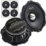 4 Pack American Bass Godfather 8' Mid Range Car Speaker 800 Watts Max GF-8 L-MR