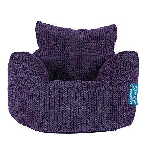 Lounge Pug®, Kindersessel Sitzsack, Sitzsack Kinder, Pom-Pom Lila
