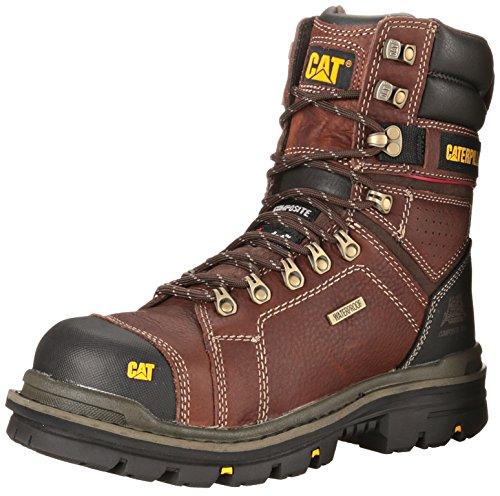 "Caterpillar Men's Hauler 8"" Waterproof Composite Toe CSA Work Boot, Oak, 9.5 W US"