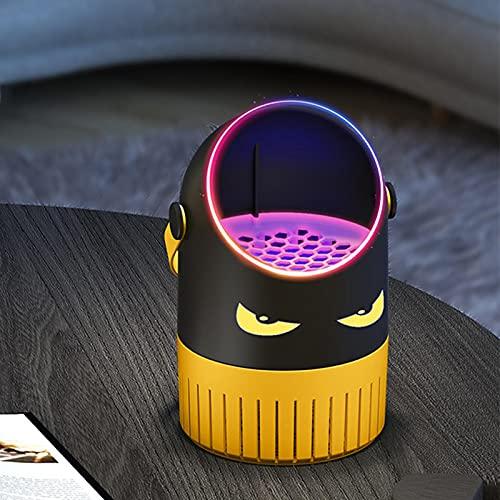 Gidenfly Lámpara eléctrica para asesino de insectos, lámpara de asesino Mos-quito con luz UV morada, recargable por USB, 360° atrae insectos voladores para interiores y dormitorios