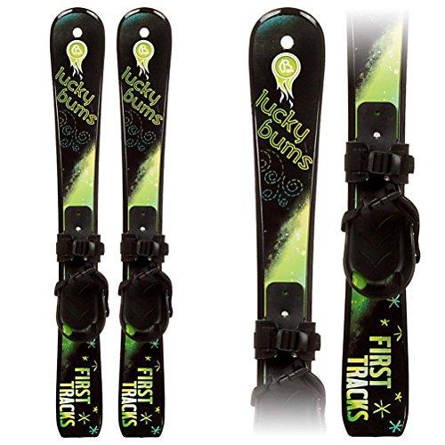 Lucky Bums Toddler Kids Boys Girls Youth Beginner Snow Skis, Green