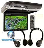 Alpine PKG-RSE3HDMI 10.1' Overhead Flip Down WSVGA Monitor with Built-in DVD Player, USB and HDMI Inputs