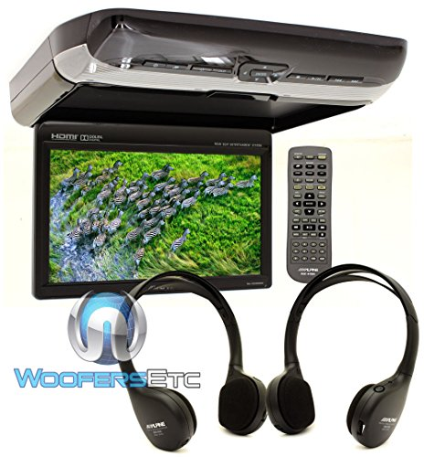"""Alpine PKG-RSE3HDMI 10.1"""" Overhead Flip Down WSVGA Monitor with Built-in DVD Player, USB and HDMI Inputs"""