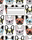 Composition Notebook: Frenchie French Bulldog Nerd | College Ruled Notebook Lined School Journal | 125 Pages | 7.5 x 9.25