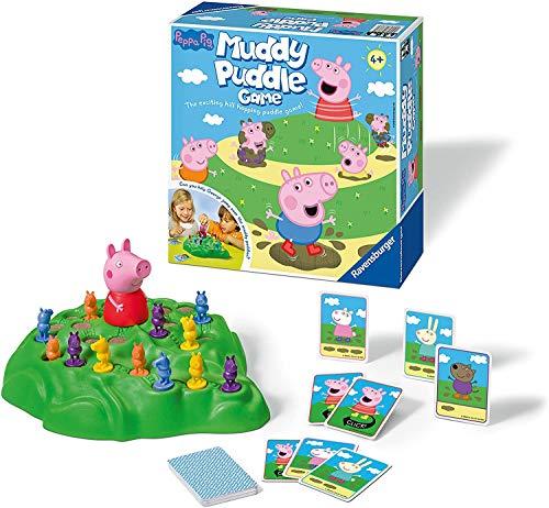 Ravensburger Peppa Pig Muddy Pfützen Spiel für Kinder ab 4 Jahren – Spaß und schnelle Familienaktivität