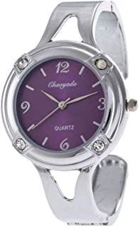 Hemobllo Rhinestone Bracelet Watch Charm Bracelet Watch Durable Quartz Watch Ladies Students Girls