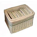 BGROEST-hm Cestas cestas de organización 5 Juego de cestas de Mimbre Hechas a Mano, cestas de Estante, cestas Decorativas Tejidas for el hogar, cestas Decorativas, organización