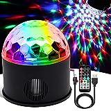 WANGZAI Luces Discoteca Discoteca Luces RGB LED Mini Crystal Magic Bola Giratoria Efecto LED Escenario Luces Adecuado para La Fiesta De Bodas, Cumpleaños, Navidad, Día De Los Niños.