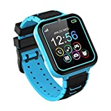 Kids Smart Watch, Smart Watch for Kids with Phone Call Games Music Player SOS Calculator Recorder Alarm Clock [1 GB Micro SD included],Kids Watch Gifts for Boys &Girls 3-12Y (BLUE)