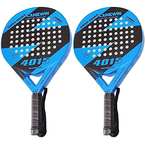 Ruluti Playa de la Raqueta de Tenis, Fibra de Carbono Grit Cara con Eva Memory Foam Core Playa de la Raqueta de Tenis