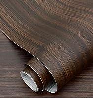 木目調壁紙壁紙自己粘着デスクトップキャビネットドアステッカー模造木材古い家具改修ステッカー装飾ボーイングフィルム-黒檀_60cm * 5m