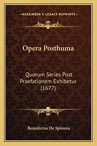 Opera Posthuma: Quorum Series Post Praefationem Exhibetur (1677)の詳細を見る
