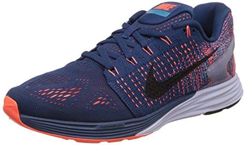 Nike Lunarglide 7, Scarpe Sportive, Uomo, Blu (Brave Blue/Black-Blue Lagoon), 40
