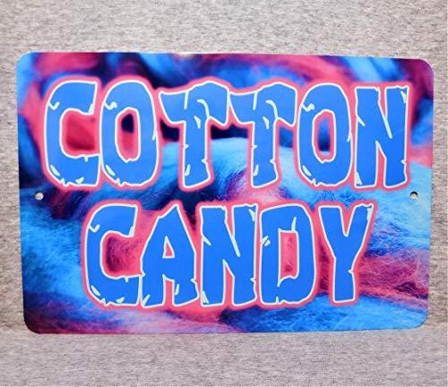 N/ A Metal Sign Coton Bonbon Carnaval Cirque Sucre Traiteur sueur festival fair food fun grand top confiserie homme grotte garage aluminium