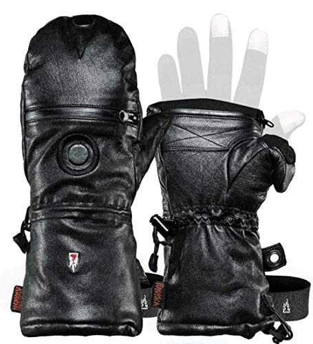 Heat 3 Gloves Layer System Shell Smart Full Leather/Black/Size 12
