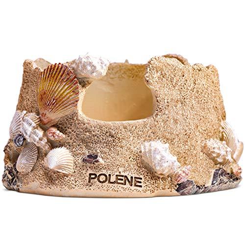 POLÈNE Golden Sandbeach Statue,Echo Dot Holder Stand,Smart Speaker...