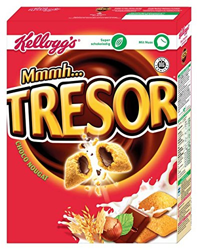 Kellogg's Tresor Choco Nougat, Getreidekissen mit Nougat-Füllung - 375gr