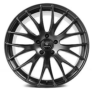 Verde V27 Saga Custom Wheel - 20x8.5, 38 Offset, 5x112 Bolt Pattern, 66.6mm Hub - Satin Black Rim