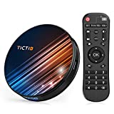 Android 9.0 TV Box ?4G + 128G? TV Android Box mit Tastatur, BT 4.0 USB 3.0 Quad-Core RK3318 64 Bits, WiFi Double 2,4 G / 5 GHz, LAN 100M, 4K TV Box -