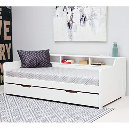 Alfred & Compagnie Arthur - Cama nido y estantes (90 x 200 cm), color blanco