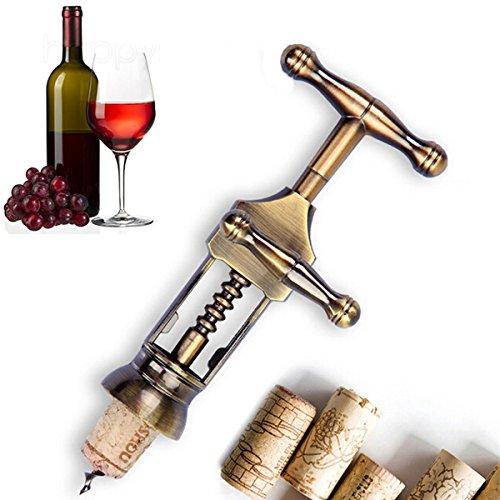 Bluelover Vin Rouge en Alliage De Zinc Opener Classique Antique Métal Corkscrew Wine Opener