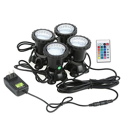 Estink Impermeable Acuario de Faro LED para Acuario de bajo el Agua de Piscina Jardín 6W 4pcs