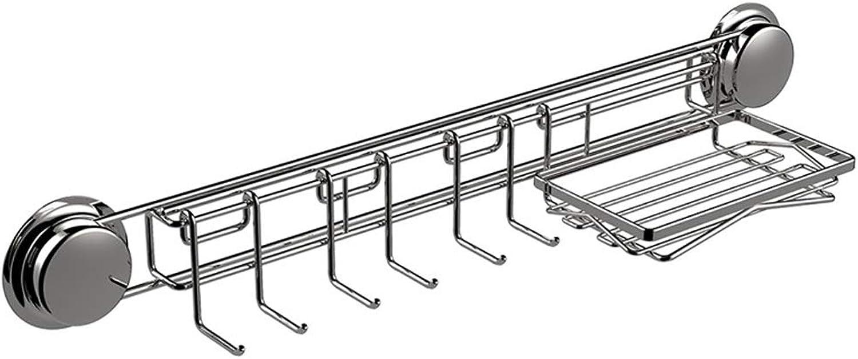 Suction Cup Kitchen Rack Spice Rack, Kitchen Storage Rack Drain Rack 304 Stainless Steel Knife Holder