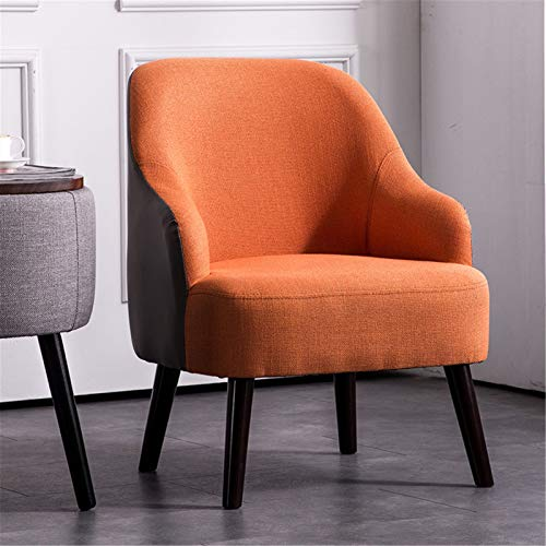 ALUNVA Upholstered Arm Chair,Living Room Furniture Single Sofa,Home Furnishings With Wood Legs With Arms And Back Support Thick Padded Back-Orange A 63 * 61 * 73(cm)