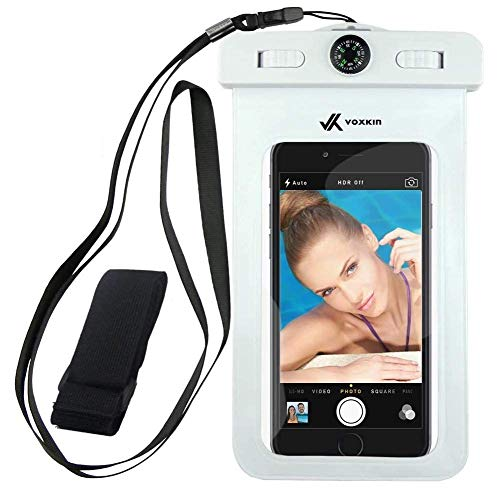 [ Premium Quality ] Universal Waterproof Phone Holder with ARM Band, Compass & Lanyard - Best Water Proof, Dustproof Case for iPhone 12 Pro Max, 12 Mini, S21 Ultra, S20, OnePlus 8, 8 Pro, Pixel 5