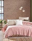 BOHORIA® Premium Colcha The Urban Loft | 100% algodón | Oeko-Tex® | Manta reversible para sofá con estampado | Extra grande 220 x 240 cm (Blush)