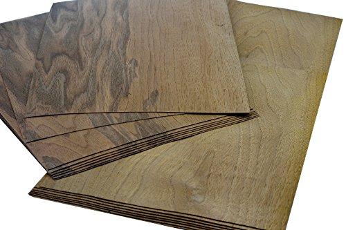 15-17 Furniere in der Holzart Euro. Nussbaum, Gesmatmenge: 0,8qm; Edelfurnier geeignet für: Modellbau Ausbesserungsarbeiten Foto Geschenk Preisschilder basteln Intarsien