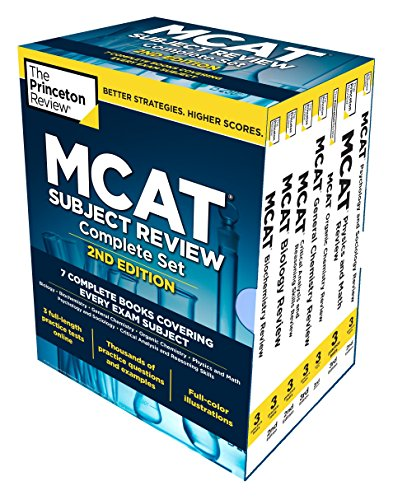 Princeton Review MCAT Subject Review Complete Box Set, 2nd Edition: 7 Complete Books + Access to 3 F