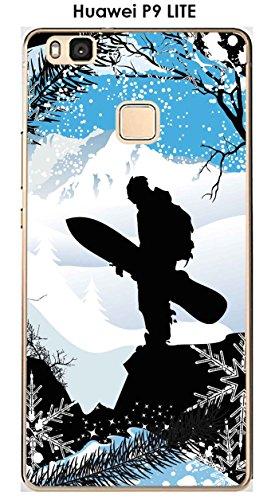 Onozo Carcasa para Huawei P9 Lite, diseño de Surf de Nieve