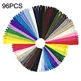 Cerniere a spirale in nylon multicolore Wartoon 120pcs 23cm / 9 pollici e 30cm / 12 pollic...