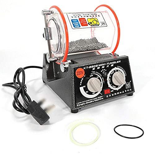 HYYK Máquina pulidora de Joyas con Copa giratoria, pulidora de Joyas de 3 kg, máquina pulidora de Joyas de 220 V, pulidora de Joyas Conveniente y fácil de Usar